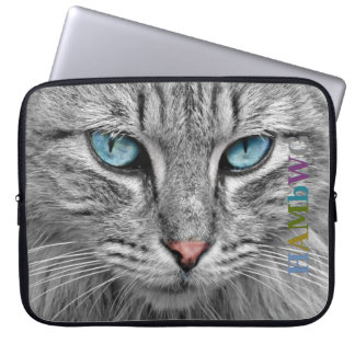 HAMbWG Gray Cat - Neoprene Laptop Sleeves