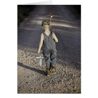 HAMbWG - Greeting Card - Kid Going Fishing