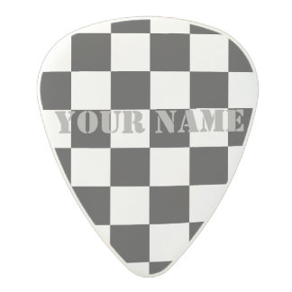 HAMbWG   Guitar Pics - Black  Checkers Polycarbonate Guitar Pick