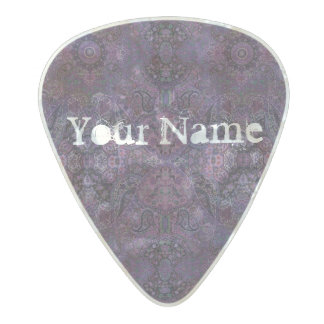 HAMbWG   Guitar Pics - Bohemian Purple Pearl Celluloid Guitar Pick