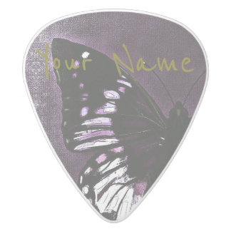 HAMbWG   Guitar Pics - Butterfly Wing White Delrin Guitar Pick