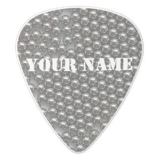 HAMbWG   Guitar Pics - Pinballs White Delrin Guitar Pick