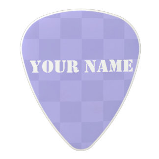 HAMbWG   Guitar Pics - Purple  Checkers Polycarbonate Guitar Pick