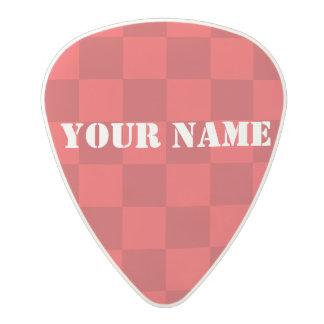 HAMbWG   Guitar Pics - Red Checkers Polycarbonate Guitar Pick