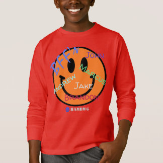 HAMbWG - Jersey - BFF Blue Smiley Emoji T-Shirt