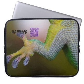 HAMbWG - Laptop Sleeve - Lizard w QR Logo