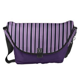 HAMbWG - Large Messenger Bag -  Violet Stripe