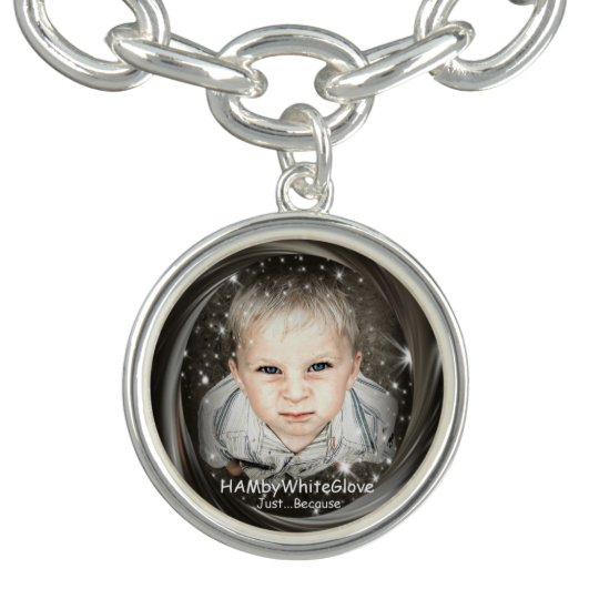 HAMbWG - Look Charm Bracelet- Silver Plated
