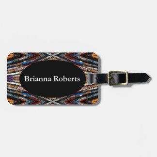 HAMbWG Luggage Tag w/ leather strap - Colorful