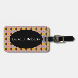 HAMbWG Luggage Tag w/ leather strap - Neon Yellow