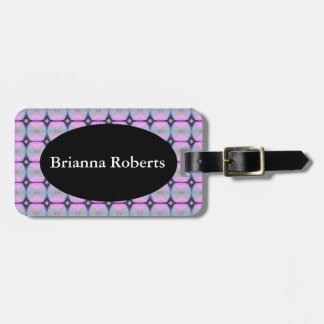 HAMbWG Luggage Tag w/ leather strap - Pink Neon