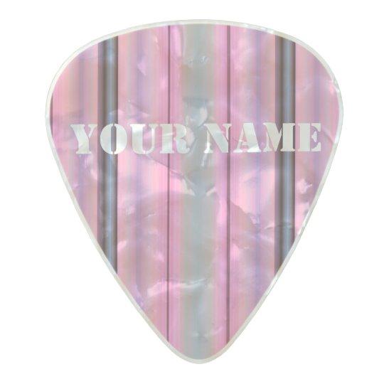 HAMbWG Med. Gauge  .80mm Guitar Picks Deco Pink Pearl Celluloid Guitar Pick