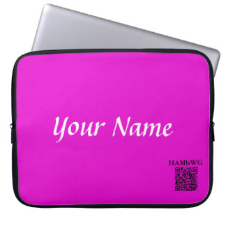 HAMbWG - Neoprene Laptop Case - Violet Personalize