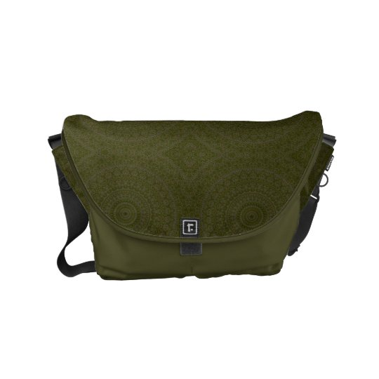 HAMbWG Olive Boho Design  Messenger Bag