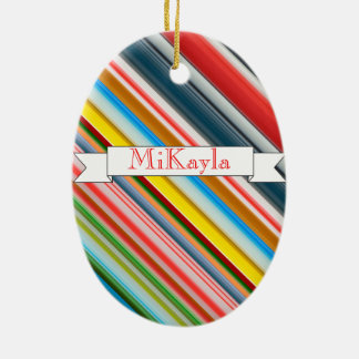 HAMbWG - Oval Ornament - Candy Cane