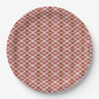 HAMbWG - Paper Goods - Read Beige Print Paper Plate