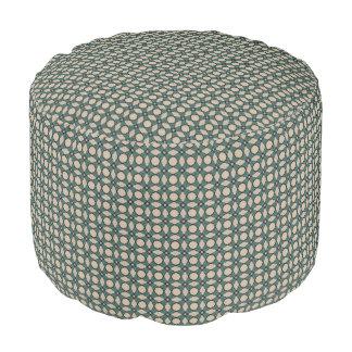 HAMbWG Pouf Chair - Black/Creme/Teal