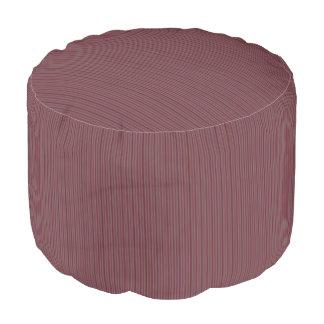 HAMbWG Pouf Chair - Cranberry Fine Stripe