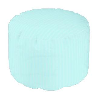 HAMbWG Pouf Chair - Mint Stripe