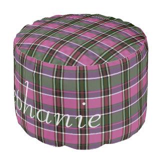 HAMbWG Pouf Chair - Pink Plaid