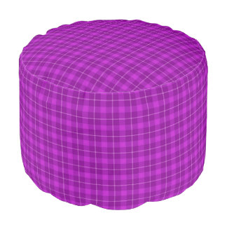 HAMbWG Pouf Chair - Violet-Pink Plaid