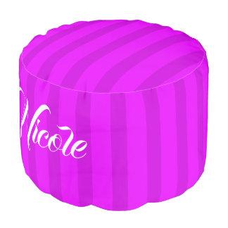 HAMbWG Pouf Chair -  Violet/Violet Stripes