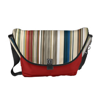 HAMbWG - Rickshaw Bag - Multi-Colored Stripe Commuter Bag