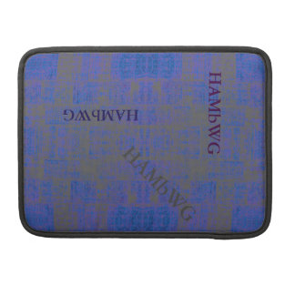 HAMbWG - Rickshaw Macbook Sleeve - Blue Distressed