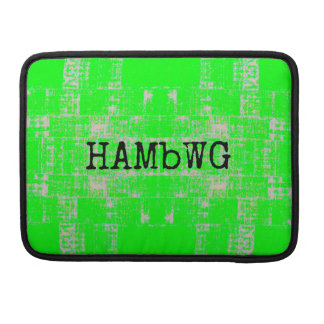 HAMbWG - Rickshaw Macbook Sleeve - Lime Green