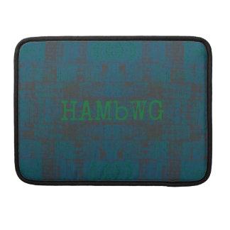 HAMbWG - Rickshaw Macbook Sleeve - Teal/Green