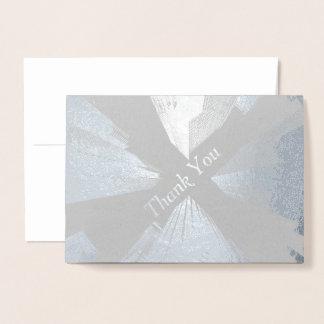 HAMbWG - Silver Foil Card - Thank You - City