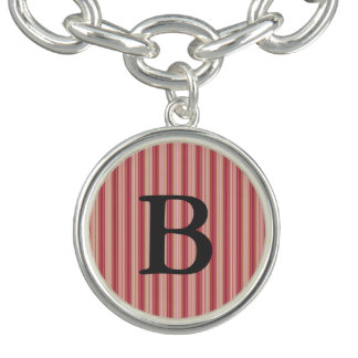 HAMbWG - Silver or Silver Plated Char Jewelry Bracelet
