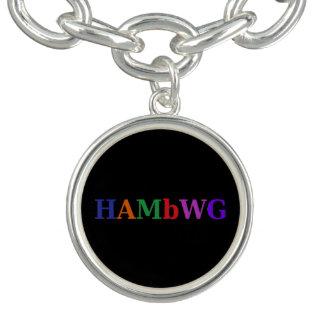 HAMbWG Silver or Silver Plated Charm Bracelet