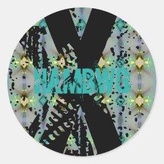 HAMbWG - Sticker - X Distressed Glow Logo