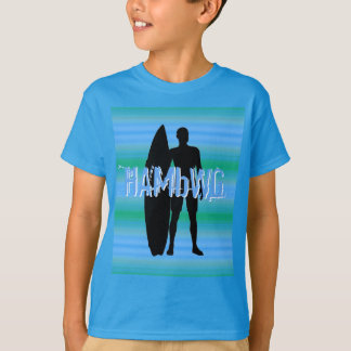 HAMbWG -  T Shirt -  Aqua Blue Gradients