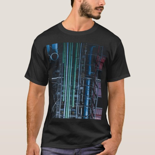 HAMbWG - T-Shirt - Architecture Coloured Pipes Lg