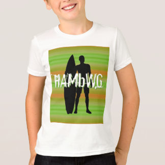 HAMbWG -  T Shirt -  Olive Gradients Surfer