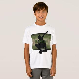 HAMbWG - T Shirt -  Olive SkateBoarder