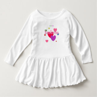 HAMbWG - Toddler Dress - Personalizable w hearts