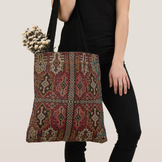 HAMbWG - Tote Bag -  Bohemian w rusts, navy, tan,