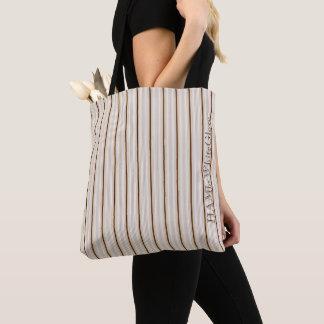 HAMbWG - Tote Bag - Pale Ticking Stripes