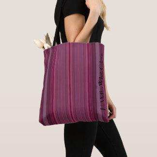HAMbWG - Tote Bag - Ruby Gradient Stripes