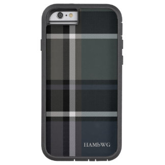 HAMbWG  Tough Xtreme Phone Case - Black Grey Plaid