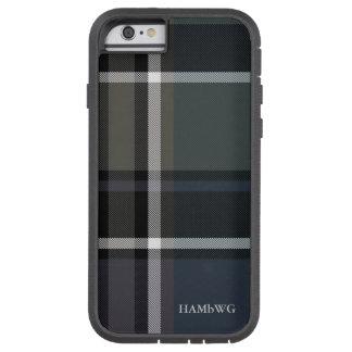HAMbWG  Tough Xtreme Phone Case -  Soft Blue Plaid