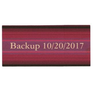 HAMbWG - USB Flash Drive - Burgundy Stripe