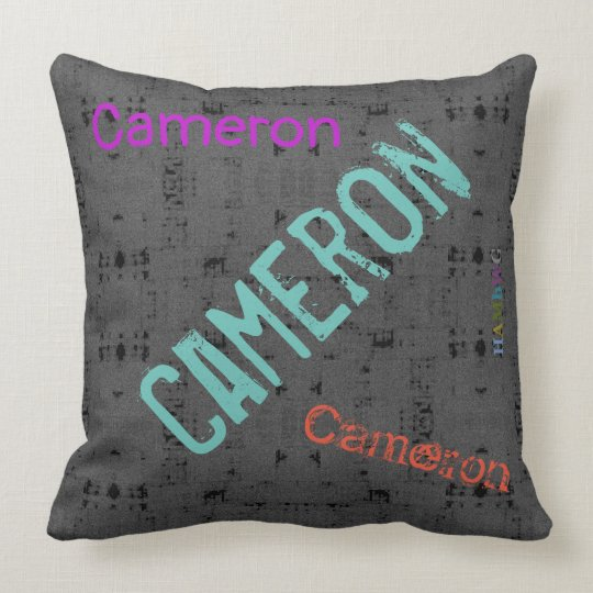 HAMbWG Vanity Pillow - Add name - Charcoal