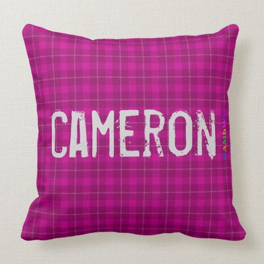 HAMbWG Vanity Pillow - Add name - Cherry Plaid