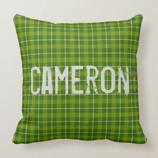 HAMbWG Vanity Pillow - Add name - Green Plaid