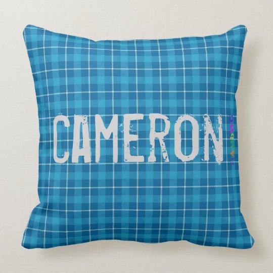 HAMbWG Vanity Pillow - Add name - L. Blue Plaid