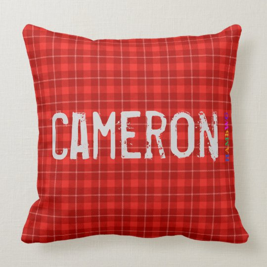 HAMbWG Vanity Pillow - Add name - Red Plaid